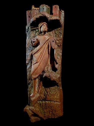 Antwerp retable fragment in oak Early 16th century