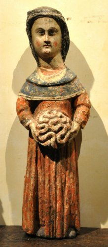 Statue of Saint Mammes of Caesarea.  France.  Circa 1380.