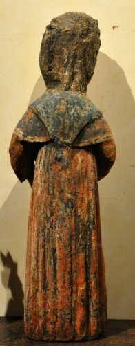 Sculpture  - Statue of Saint Mammes of Caesarea.  France.  Circa 1380.
