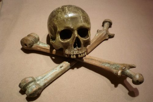 Memento Mori in carved lime-wood.   Germany.  17th century.