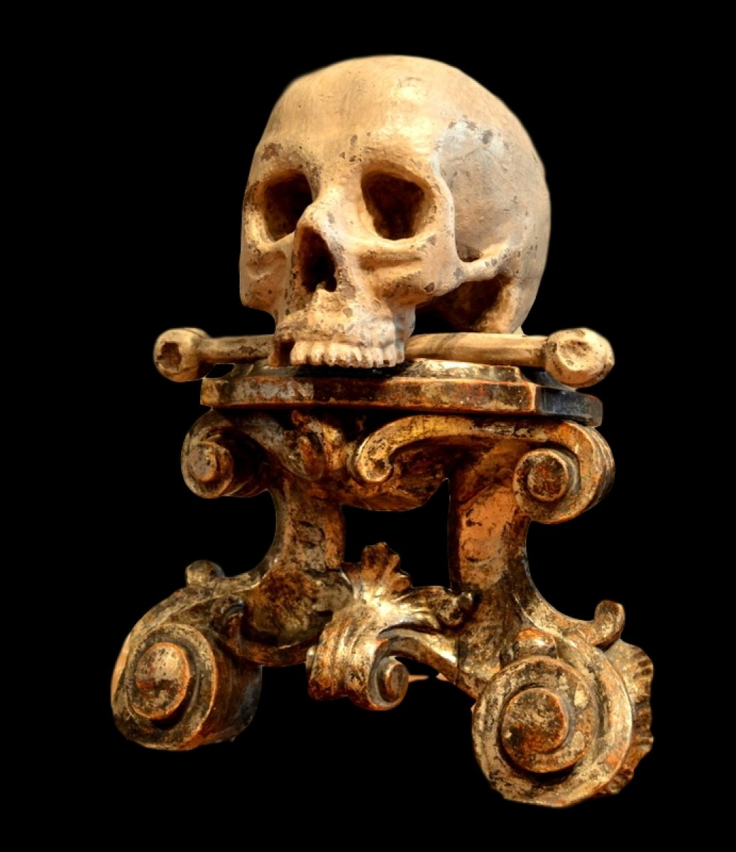 Important Memento Mori Southern Germany 17th Century Ref