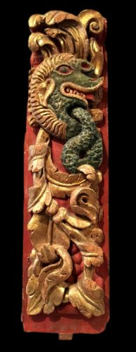 Panel from a gondola.  Venice.  Late 17th century.