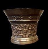 A rare bronze mortar,  Antwerp dated 1648