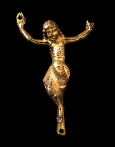 Christ in gilded bronze, Italy Circa 1300