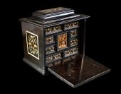 Rare miniature cabinet.  Augsburg.  Early 17th century.