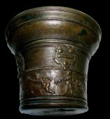 Renaissance bronze mortar.  Italy.  2nd half of the 16th century.