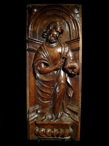 "Sculpture  - A set of 3 ""Mannerist"" panels in walnut.  France.  Mid 16th century."