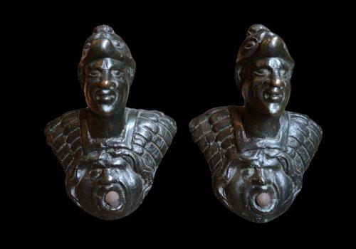 Pair of bronze door knobs Renaissance