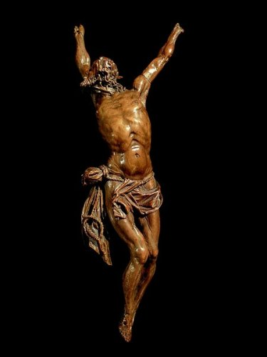 An important boxwood Christ, Antwerp school late 16th century