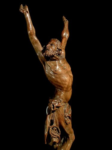 An important boxwood Christ, Antwerp school late 16th century - Sculpture Style Renaissance