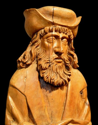A beautiful sculpture of Saint Rochus.  Würzburg region.  Circa 1550. - Sculpture Style Renaissance