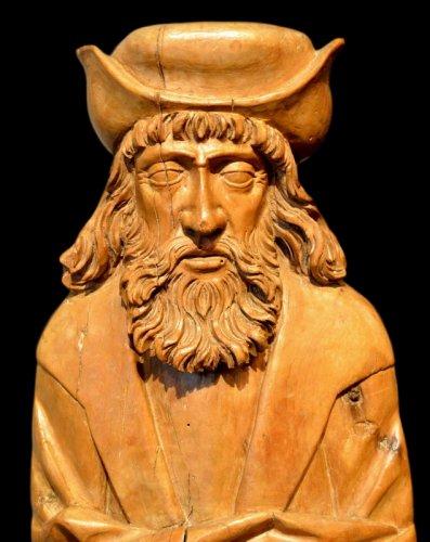 Sculpture  - A beautiful sculpture of Saint Rochus.  Würzburg region.  Circa 1550.