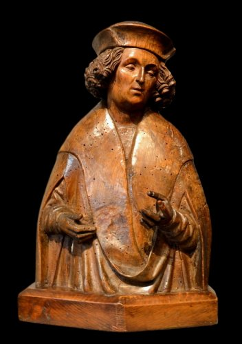 A carving depicting Saint Vitus.  Southern Germany.  Circa 1500.