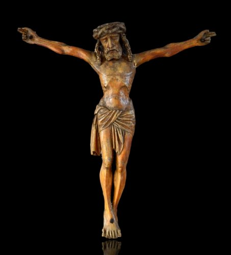 Christ in carved wood.16th century.