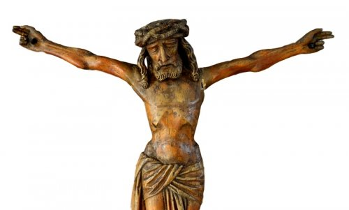 Christ in carved wood.16th century. - Religious Antiques Style Renaissance