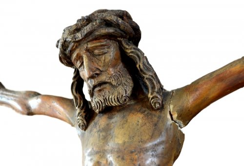 Christ in carved wood.16th century. -