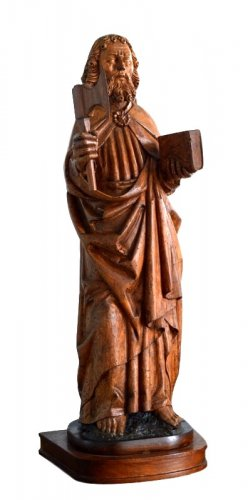 St-Matthew in carved limewood.Germany 15th century.