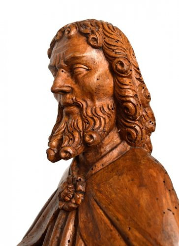 St-Matthew in carved limewood.Germany 15th century. -