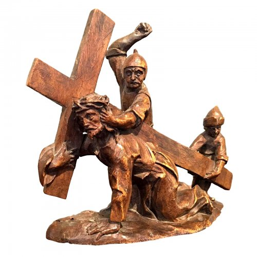 Miniature statue 'Road to the calvary'. Brussels Ca. 1500