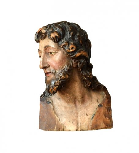 Sculpture  - Limewood Buste of Saint John the Baptiste.16th century