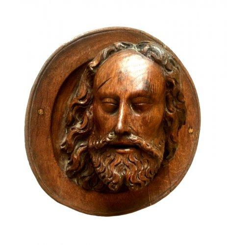 Head of Saint John the Baptist, late 15th century - Sculpture Style