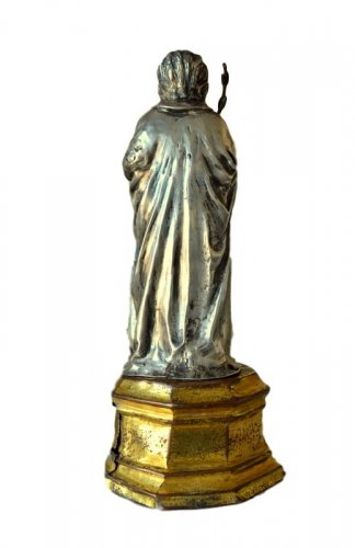 Important silver reliquary statue15th century -