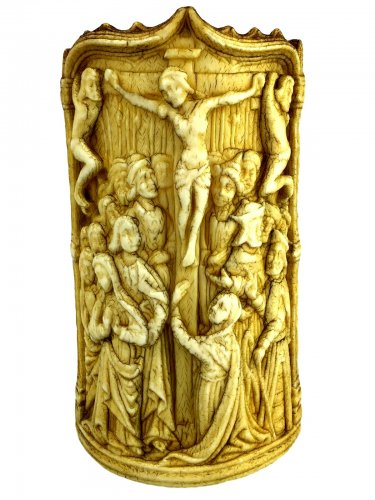 Bone Pax 'The Crucifixion'.Early 16th century