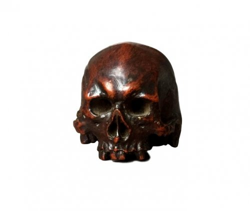 Boxwood carved Skull.17th century.
