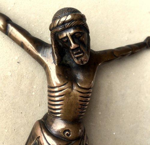 Bronze Christ, France 14th century -