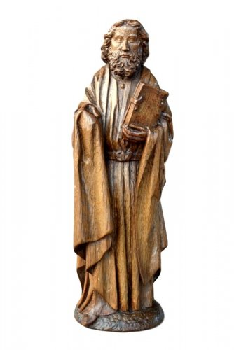 Oak carved gothic statue, Brabant circa 1480