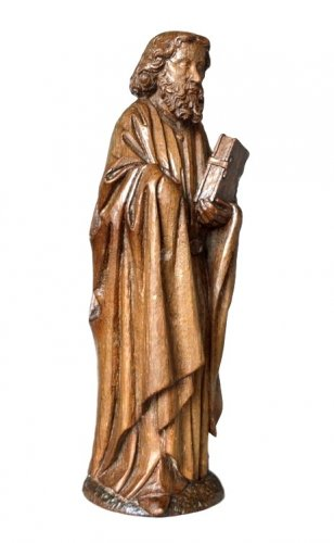Oak carved gothic statue, Brabant circa 1480 - Sculpture Style Middle age