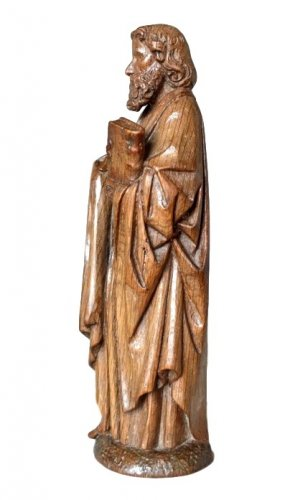 Sculpture  - Oak carved gothic statue, Brabant circa 1480