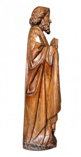 Oak carved gothic statue, Brabant circa 1480 -