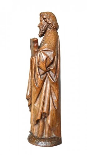 16th century - Oak carved gothic statue, Brabant circa 1480