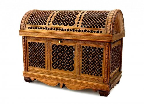 Exceptional boxwood casket.Early 16th century.