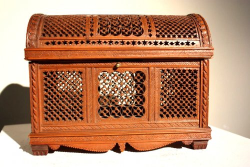 Exceptional boxwood casket.Early 16th century. - Objects of Vertu Style