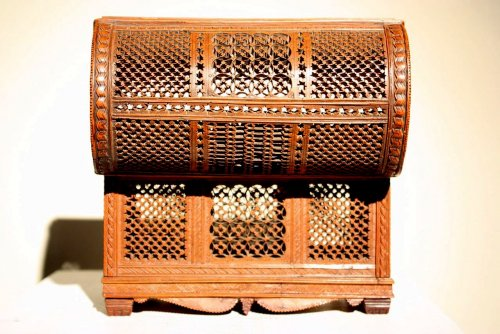 Exceptional boxwood casket.Early 16th century. -
