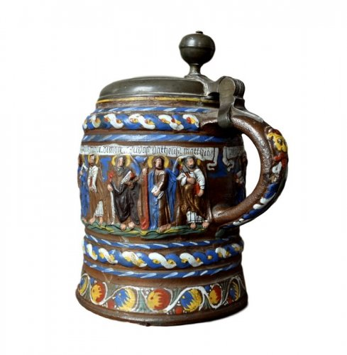 A Creussen stoneware tankard.Late 17th century