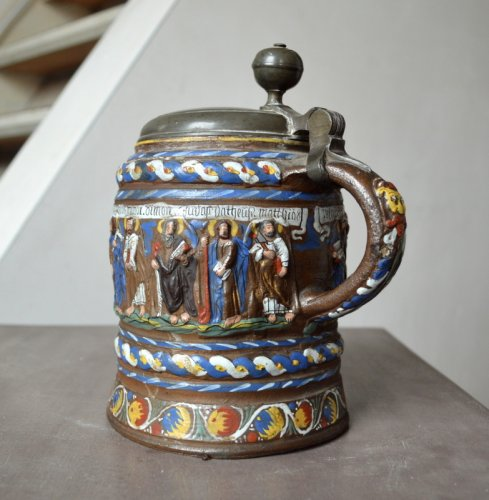 17th century - A Creussen stoneware tankard.Late 17th century