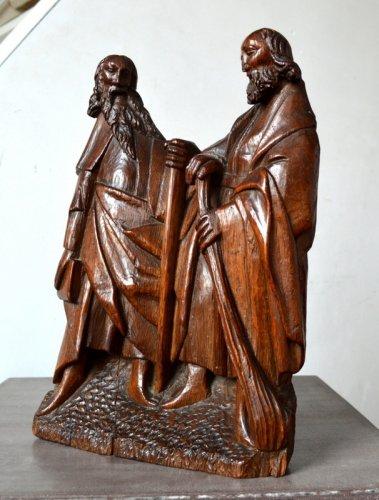 Sculpture  - Oak carved retable fragment, Picardy circa 1500-1520
