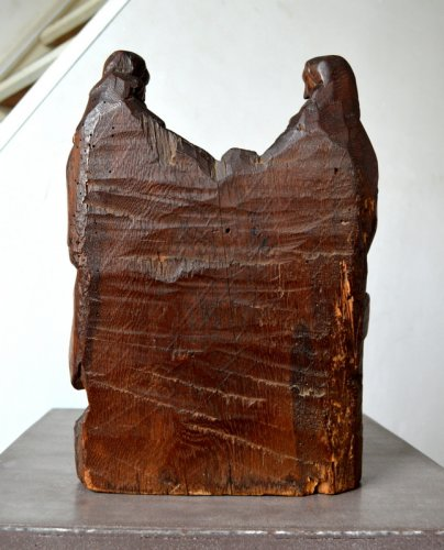 16th century - Oak carved retable fragment, Picardy circa 1500-1520