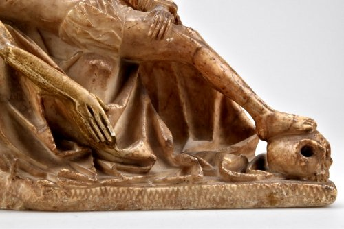 Antiquités - Alabaster carved gothic Pieta Circa 1450