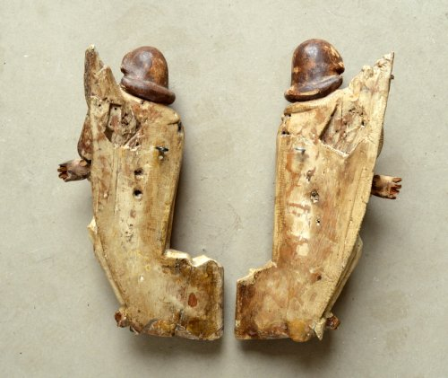 - A pair of carved limewood Angels.16th century