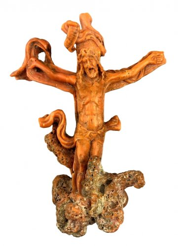 Christ in carved coral.Italy 17th century.
