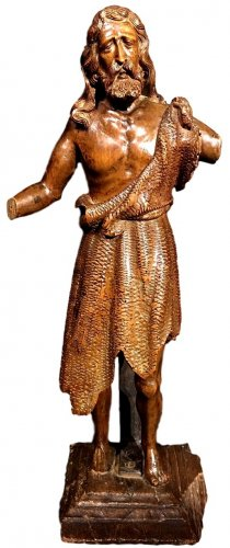 Carved figure of St-John the Baptist.16th century.