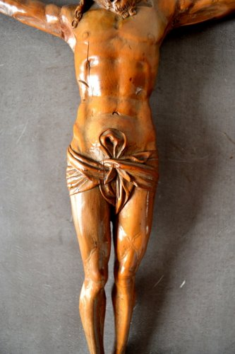 A German boxwood carved corpus.16th century -