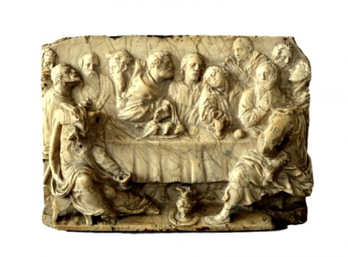 A Renaissance marble relief.Italy 16th century.