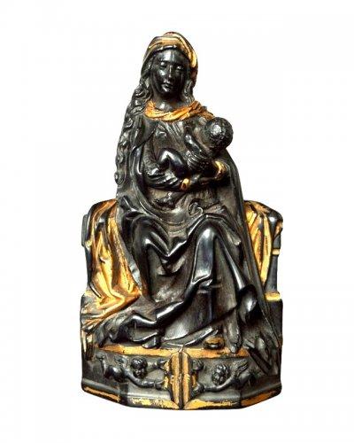 Ebony figure of Virgin and Child - Flemish 17th century