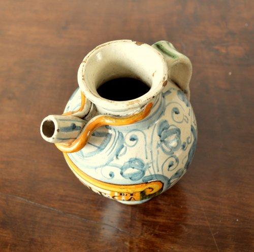 - Italian majolica apothecary jar  c.1600-1620