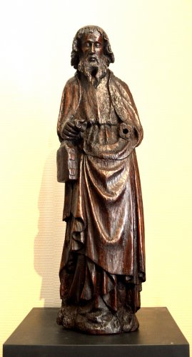 Oak statue of Saint-Paul ca.1400 - Sculpture Style Middle age
